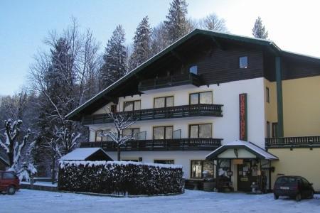 Bad Ischl, Zima, Gasthof Pfandl-Zima, Rakousko, Dachstein West