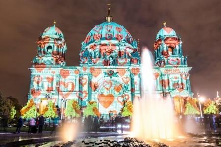 Festival světel v Berlíně Bez stravy