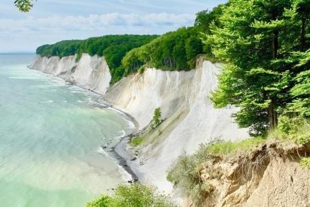 Božské útesy na břehu Baltského moře