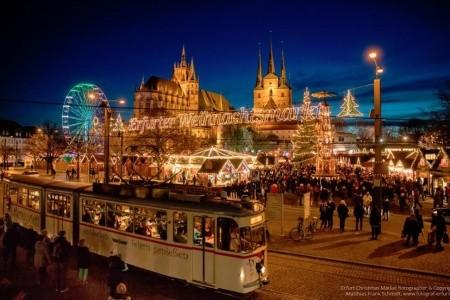 Adventní trhy v Erfurtu Bez stravy