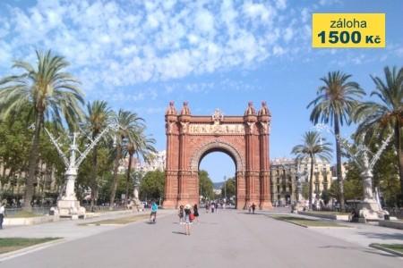 Barcelona - more, hory, turistika - poznávací zájezdy