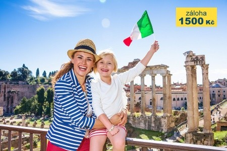 Řím pro rodiče a děti + KOUPÁNÍ V MOŘI (letecky z Prahy) - s dětmi