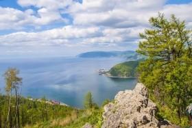Jezero Bajkal - návrat do přírody - letecky