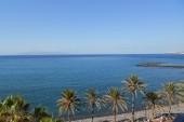 výhled z hotelového balkonu