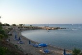 Pláž při západu slunce