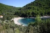 pláž na ostrově Korčula