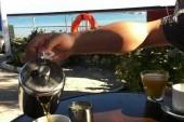 Snídaně v hotelu Valais - s výhledem na moře
