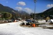 výhled z lyžařského areálu