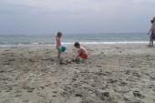 děti na písku