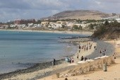 Pohled na pláž Costa Calma