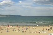 pláž hotelu amfora - zcela vpravo