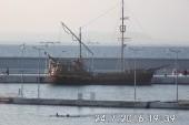 výletní loď v novém přístavu