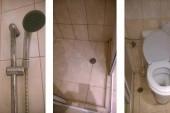 Koupelna v hotelu-otřes