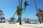 Pláž u hotelu.