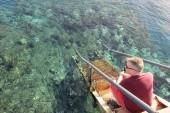 Přístup do vody z mola