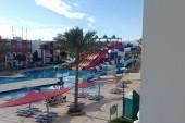 Výhled z pokoje na aquapark