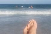 Pláž na konci pobytu