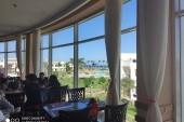 Pohled z hotelové restaurace