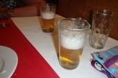 běžná míra piva při večeři