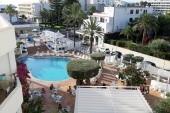 Pohľad na terasu v hoteli Moreto