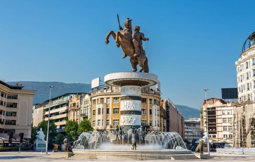 Makedonské náměstí ve Skopje