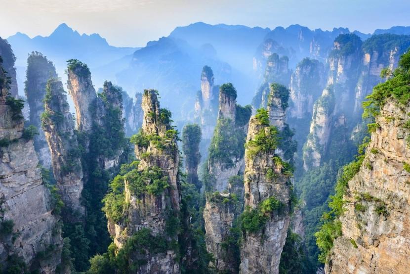 Národní park ZhangJiaJie v Číně