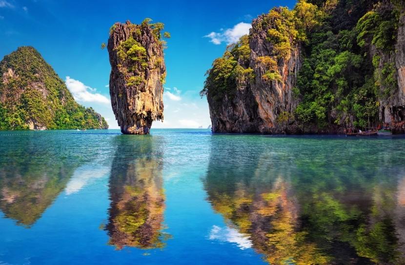 Záliv Phang Nga v Thajsku
