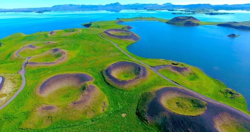 Jezero Mývatn, Island
