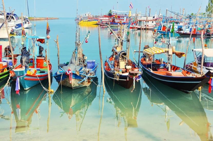 Rybářské lodě na Koh Samui