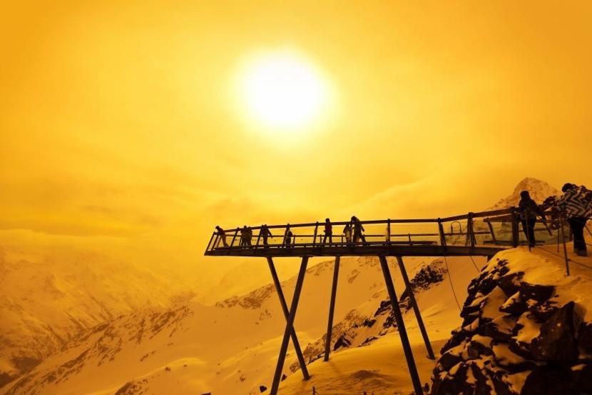 Vyhlídková plošina v Rakouských Alpách