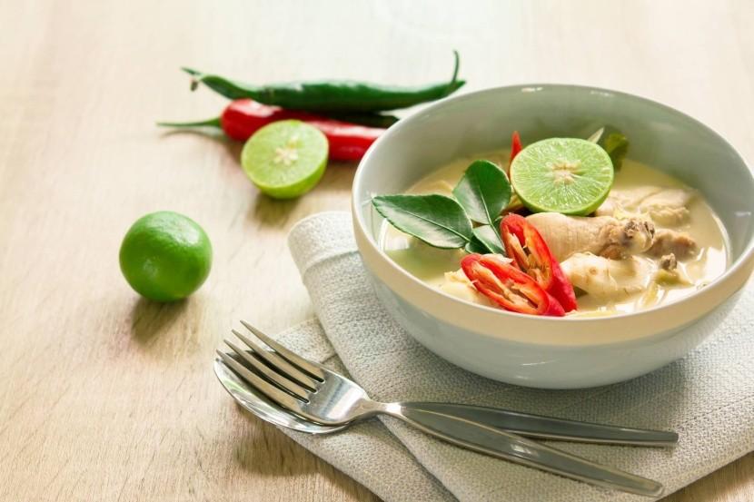 Tom kha gai - thajská kokosová polévka