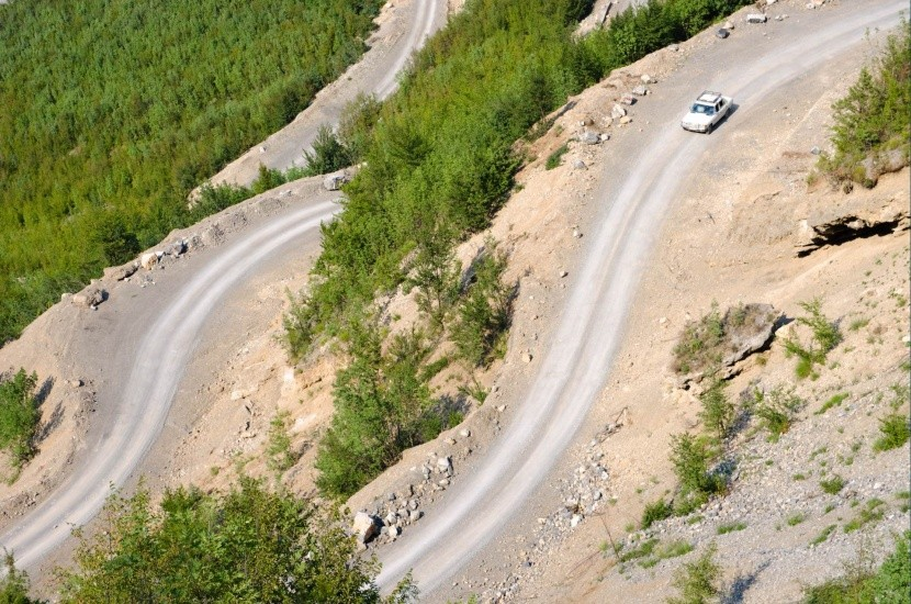 Typická horská silnice