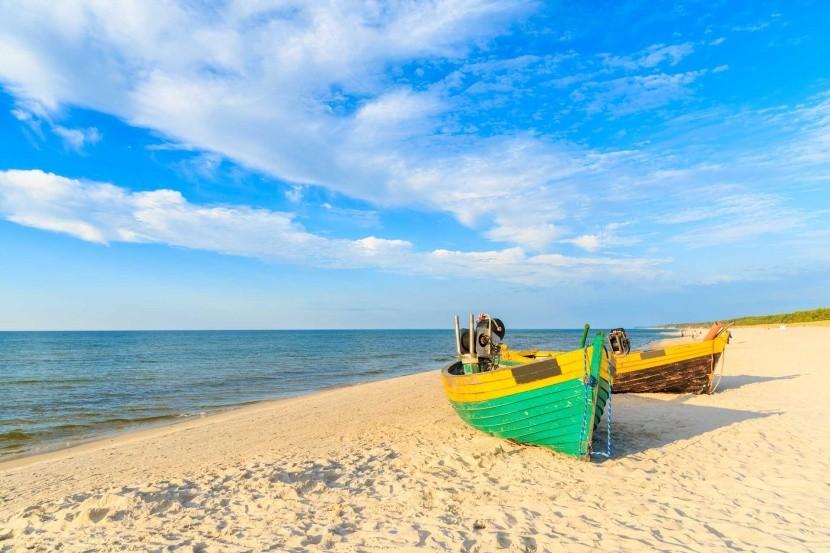 Pláž Debki, Baltské moře, Polsko