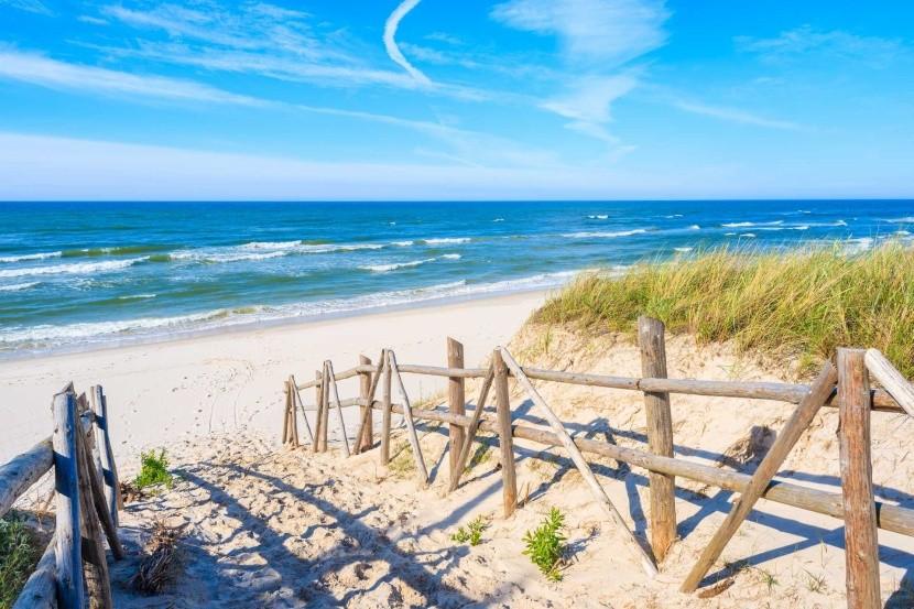 Cesta na pláž, Bialogora, Polsko