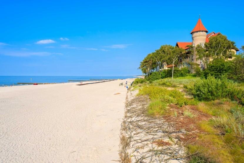 Pláž v Lebě, Baltské moře, Polsko