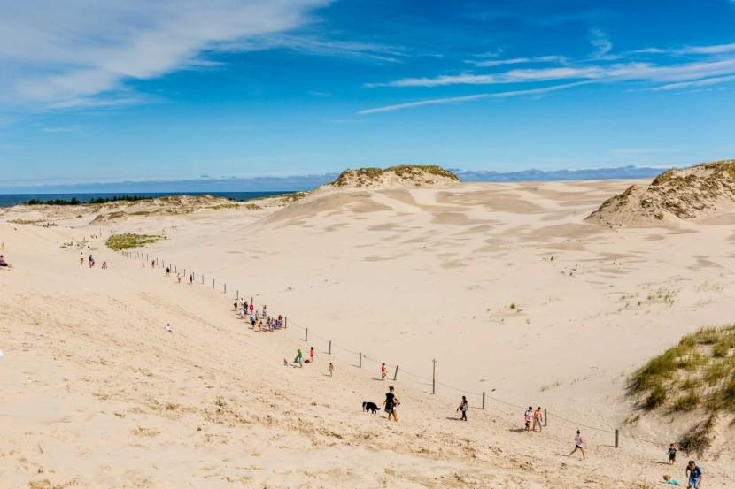 Putující písečné duny, Leba, Polsko