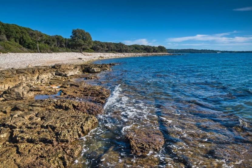Pláž Brijuni, Chorvatsko