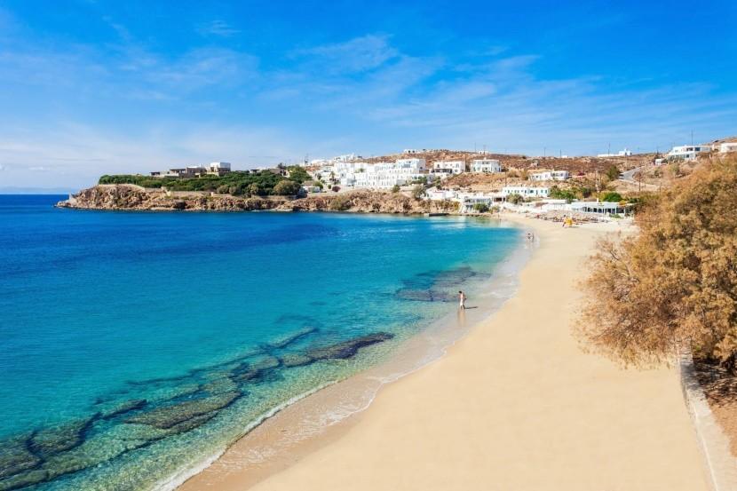 Pláž Agios Stefanos, Mykonos, Řecko