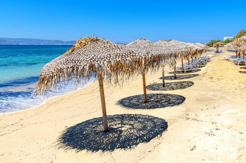 Pláž Agia Anna, Naxos, Řecko