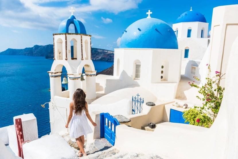 Světoznámá Oia, Santorini, Řecko