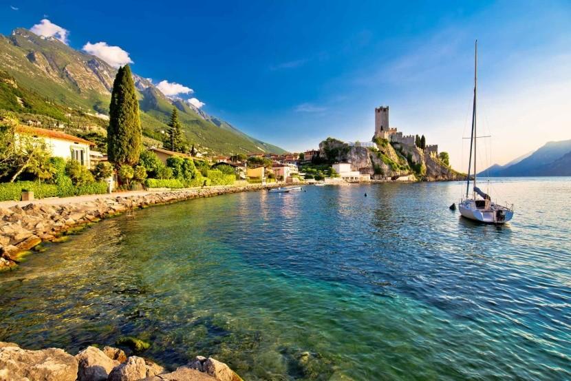 Italské jezero Lago di Garda