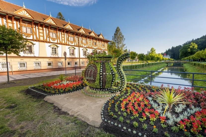 Zahrady v lázních Luhačovice