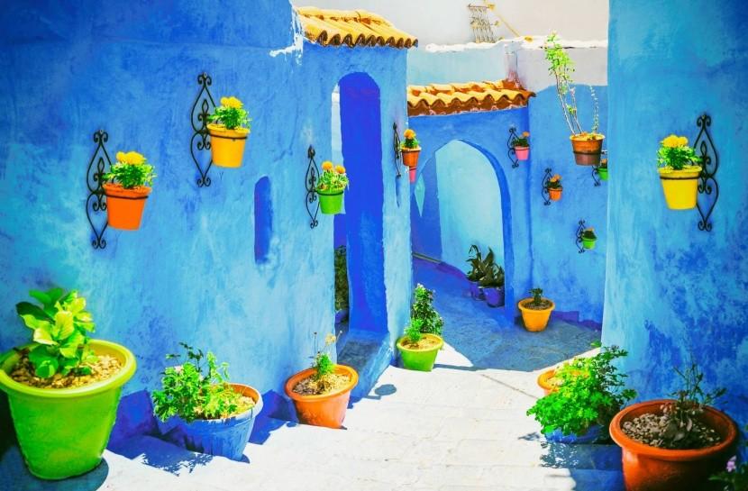 Město Chefchaouen na severu Maroka
