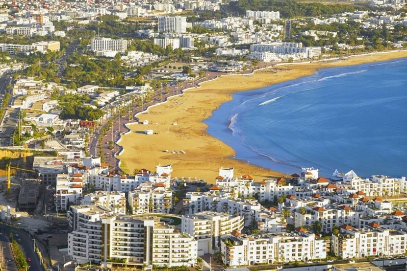 Pláž Agadir, Maroko