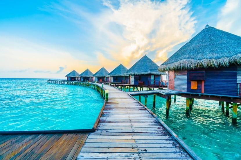 Vodní vily na Maledivách