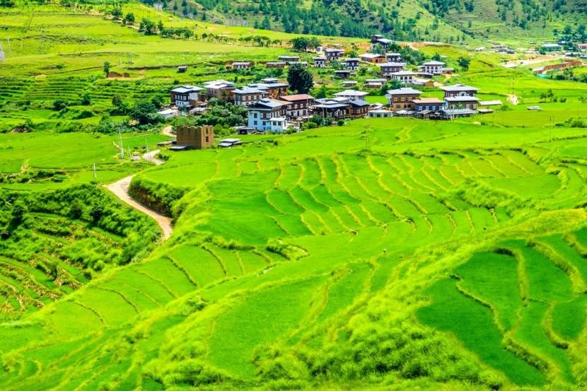 Tradiční bhútánská vesnice
