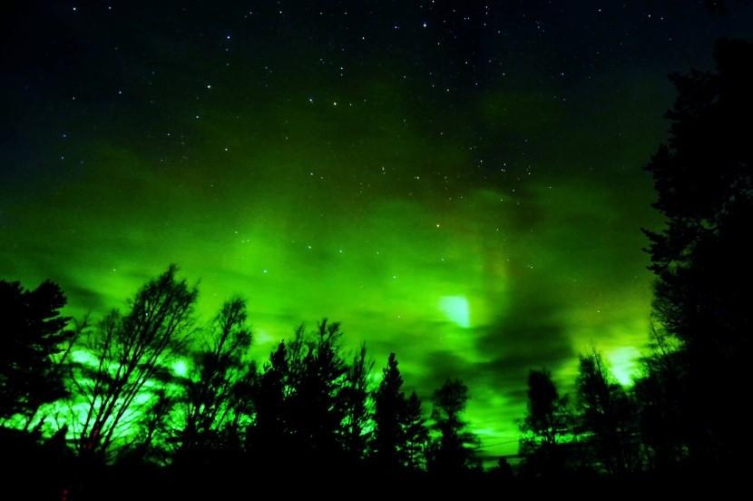 Polární záře v Rovaniemi