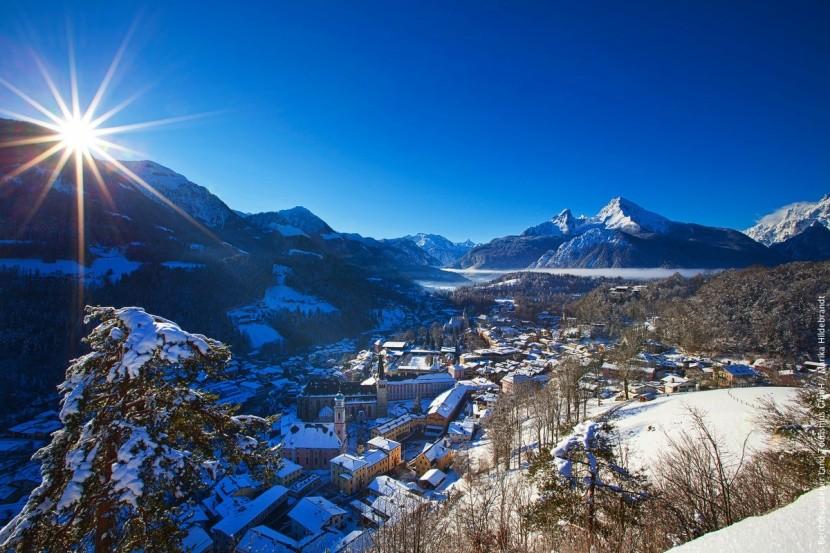 Berchtesgaden s horou Watzmann