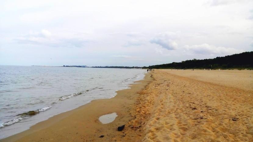 Pláž v Gdaňsku