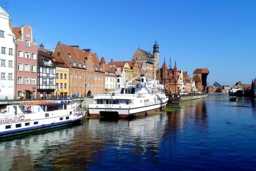 Nábřeží v Gdaňsku